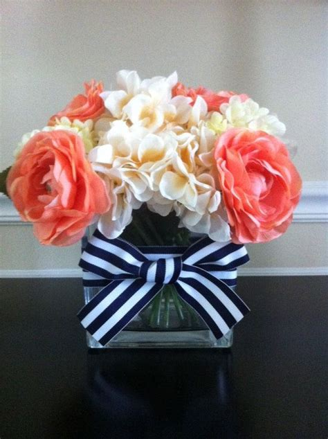 Navy Blue And Coral Wedding Decorations by Best 20 Navy Wedding Centerpieces Ideas On