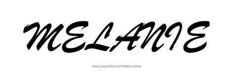 melanie tattoo designs melania name designs