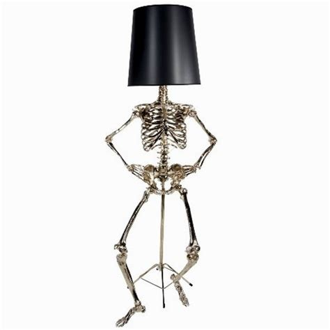 Black And White Floor Bathroom by Unusual Floor Lamp With Skeleton Body Philippe Home