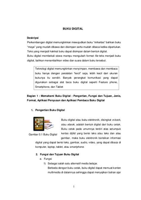 Jenis Format Buku Digital Serta Perangkat Lunak Alat Bacanya | buku digital e pub