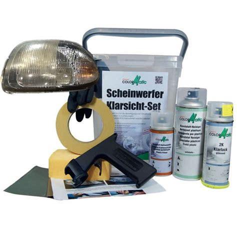 Scheinwerfer Polieren Klarlack by Colormatic Scheinwerfer Klarsicht Set Vergilbung Reparatur
