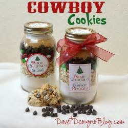 craft ideas and more from davet designs 8th day of christmas in a jar cowboy cookie mix in a jar