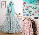 Longdress Crepe Payet baju gamis modern rasty hijaber kombi brokat model