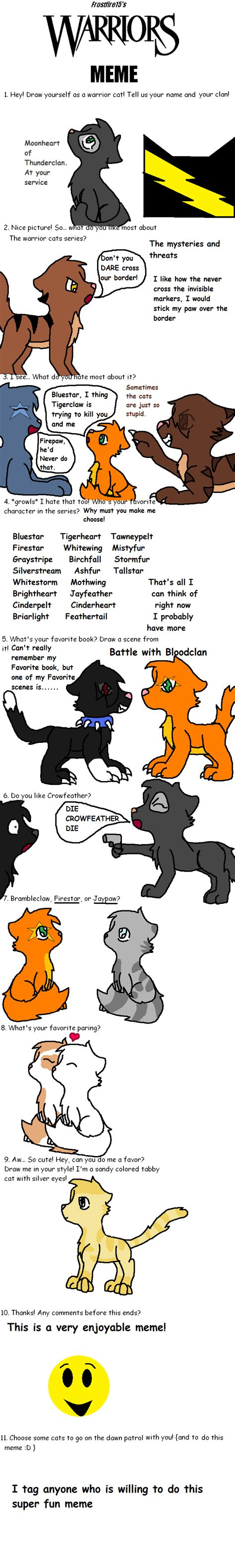 Warrior Cats Meme - warrior cat meme www pixshark com images galleries