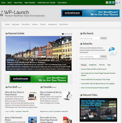 theme launch blog green wordpress themes a roundup of 30 awesome templates