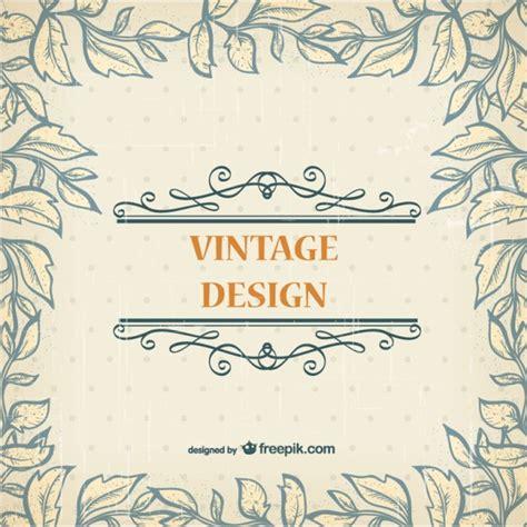 Karten Design Vorlagen vintage vorlage kostenlos karte der kostenlosen