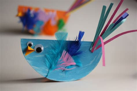 Paper Birds Craft - paper plate bird craft for easy and so