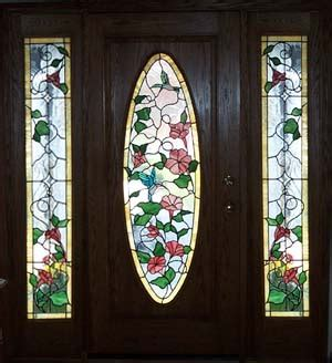 Stained Glass Designs For Doors Hummingbirds Stained Glass Entry Door Side Lites
