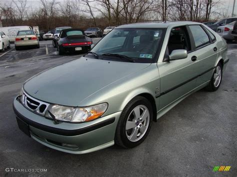 2002 sun green metallic saab 9 3 se sedan 24587898