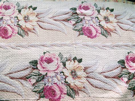 barkcloth upholstery fabric glen court pink roses vintage barkcloth bark cloth fabric