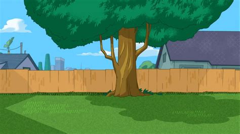 phineas and ferb backyard image phineas and ferb are not in the backyard jpg phineas and ferb wiki fandom