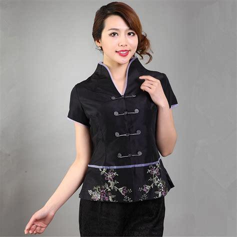 New Moline Blouse Black new arrival black shirt top s silk satin v neck blouse sleeves mujere camisa