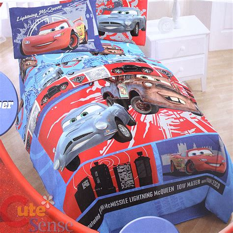 Disney Cars Mcqueen 4pc Twin Bedding Comforter Set Ebay