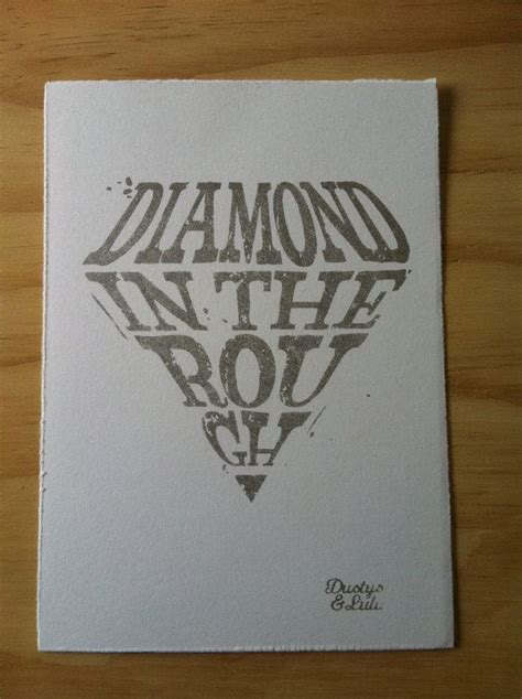 diamond in the rough tattoo in the screen print on by