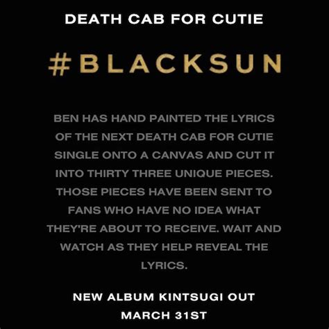 The Place Lyrics Meaning Black Sun Lyrics Meaning Cab For Cutie