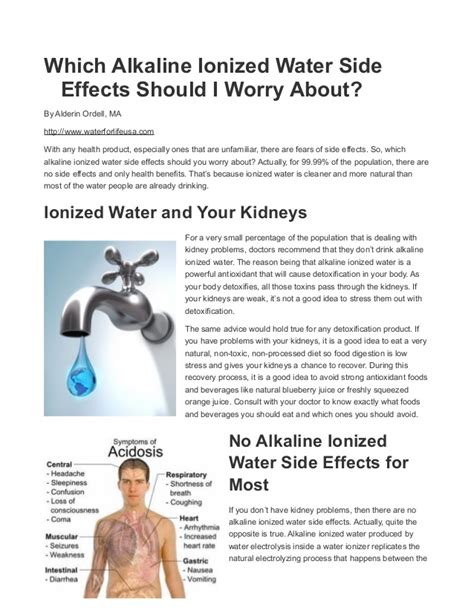 Is There Any Side Effects Of Detox Water by Are There Any Alkaline Ionized Water Side Effects