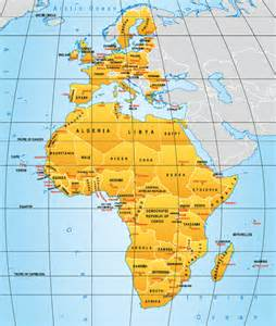 Europe Africa Map by Map Of Africa And Europe Deboomfotografie