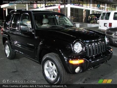 black jeep liberty 2002 black 2002 jeep liberty limited 4x4 slate gray
