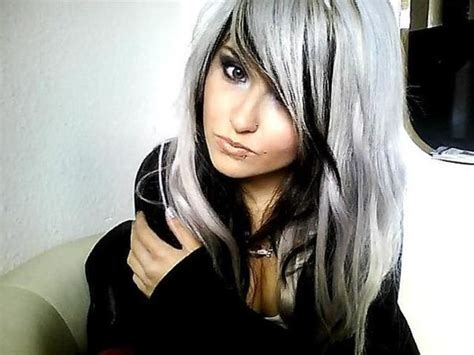 white hair with black lowlights 15 black and white hairstyles are you a fan of the salt