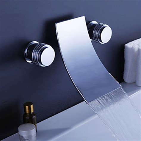 contemporary bathtub faucets waterfall widespread contemporary bathtub faucet chrome