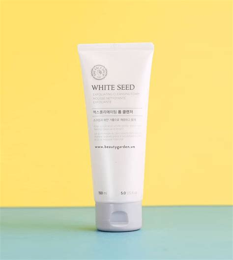 The Shop White Seed Exfoaliating Cleanser sữa rửa mặt the fac shop white seed