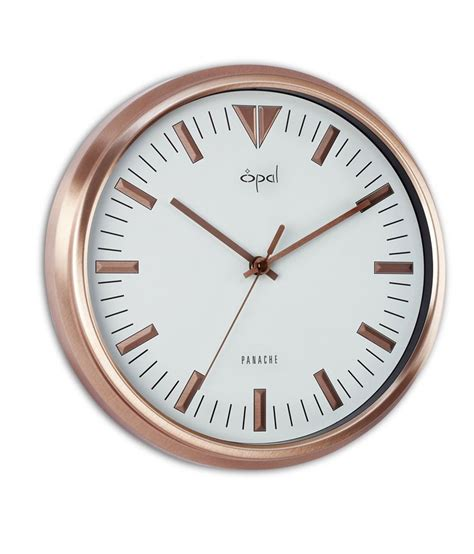 designer clock buy opal designer wall clock copper best prices snapdeal
