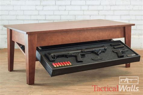 gun safe coffee table best gun concealment furniture to keep deadly weapons secure