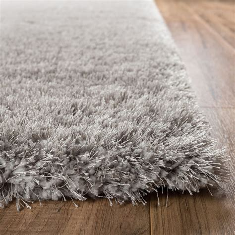 grey shimmer rug shimmer shag silver grey solid modern luster ultra thick soft plush plain area rug contemporary