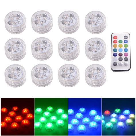 Lu Led Underwater Submersible Waterproof 2pcs With Remote Multicolor Remote Submersible Underwater Led Lights For Ld843