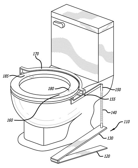 toilet seat lifter pedal patent us20120272443 foot operated toilet seat lift