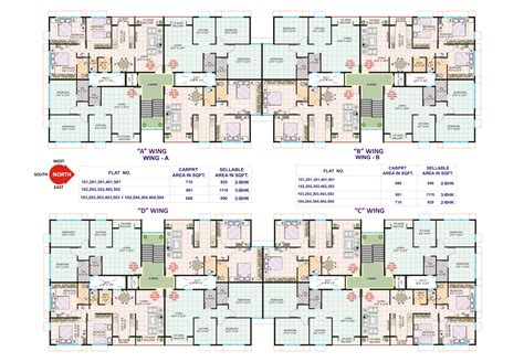 building plan floor plan of residential building