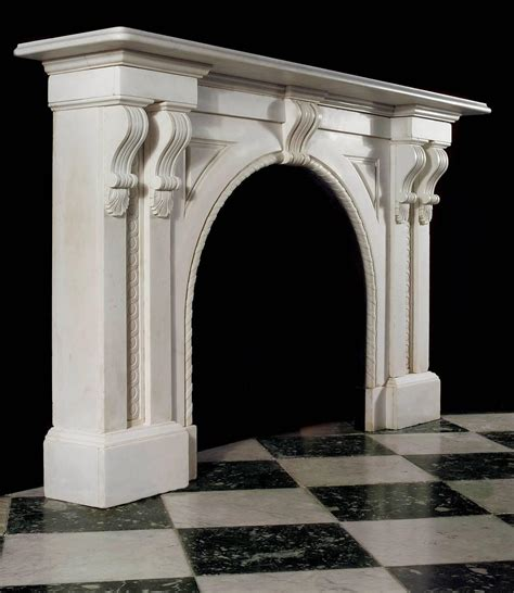 arched fireplace mantels antique white statuary marble arched fireplace mantel for sale at 1stdibs