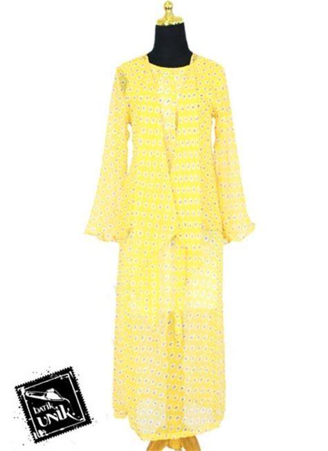 gamis griselle sifon gl991two inner baju batik gamis modern sifon motif bunga bunga ceplok