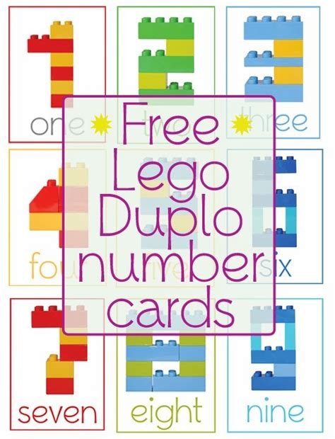 printable digit cards free lego duplo number cards free lego lego duplo and lego