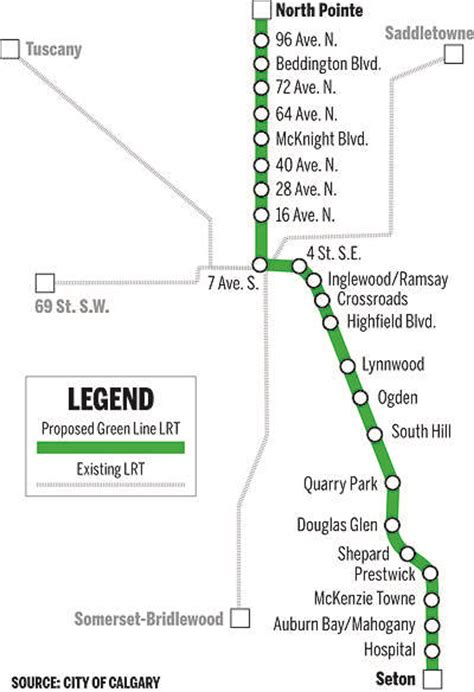 green line map calgary city report says green line lrt funds needed by october calgary herald