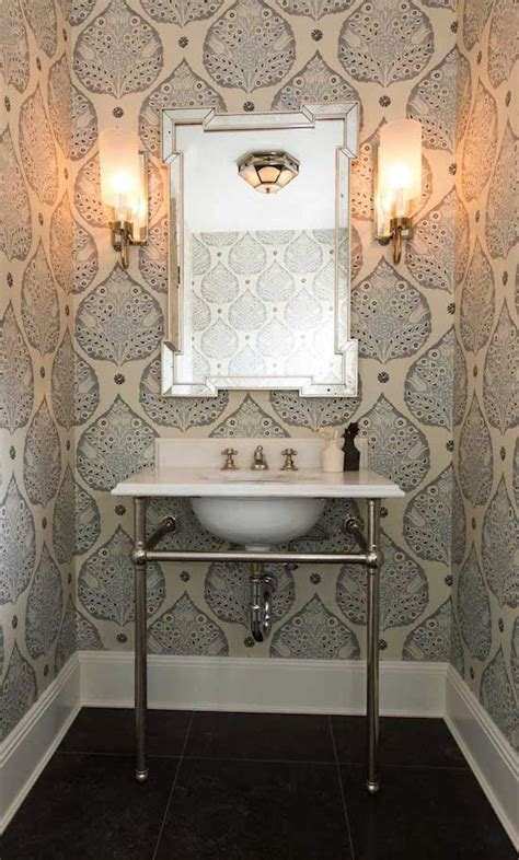 wallpaper in bathroom ideas top 25 best small bathroom wallpaper ideas on