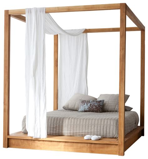canopy bed modern pch series canopy bed queen modern canopy beds by