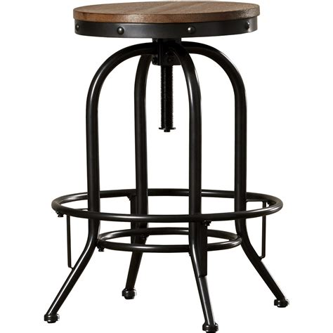 Adjustable Height Bar Stool Trent Design Empire Adjustable Height Swivel Bar Stool Reviews Wayfair