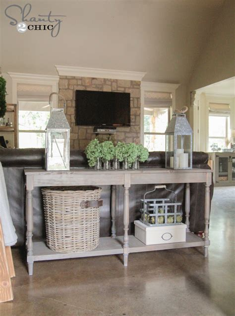 Diy Console Table Plans Free Woodworking Plans Diy Console Table