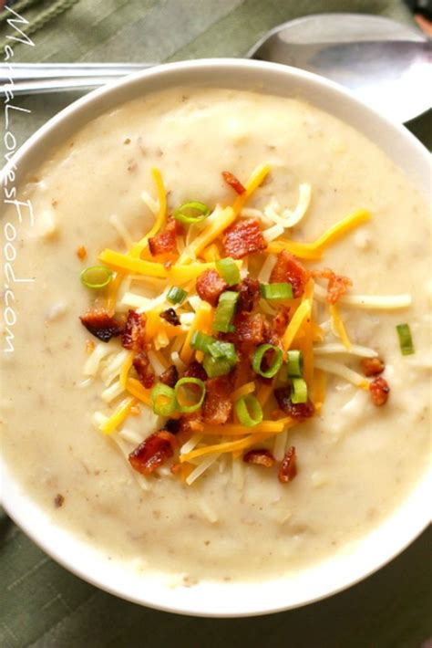 loaded baked potato soup recipe how to make slow cooker crock pot style creamy potato soup