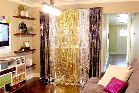 Foil Curtain Silver 3m cheap silver metallic foil fringe shimmer curtain backdrop