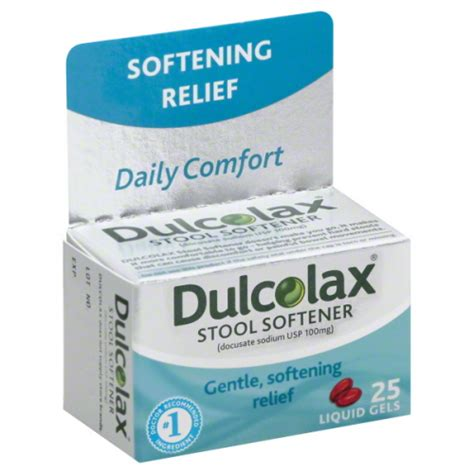 Is Dulcolax A Stool Softener Or Laxative by Dulcolax Stool Softener 25 Count