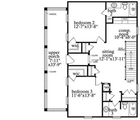 decker floor plan decker porch and a detached garage 9729al architectural designs house plans