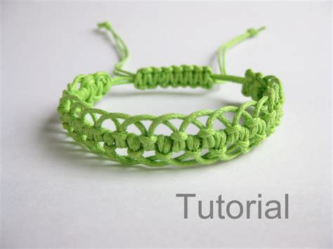 Makrame Tutorial - bracelet pattern macrame tutorial pdf green adjustable clasp