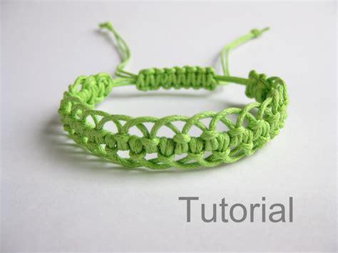 Tutorial Macrame - bracelet pattern macrame tutorial pdf green adjustable