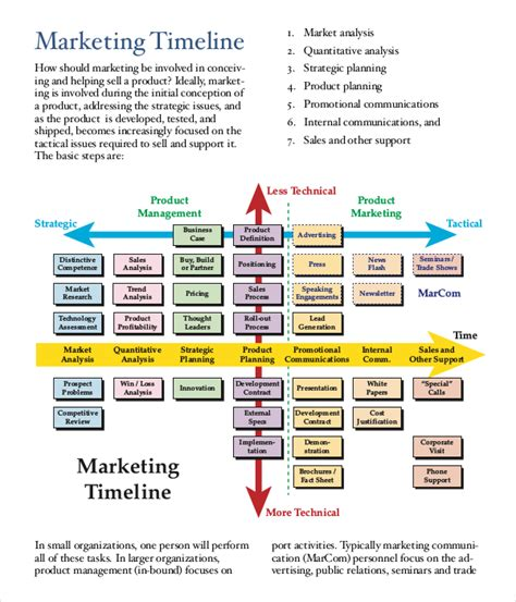 marketing timeline template marketing timeline template 7 free excel pdf documents