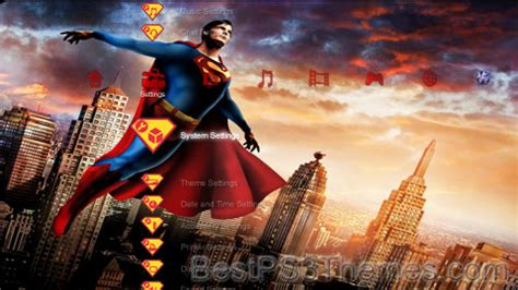 ps4 themes superman superman 5 best ps3 themes