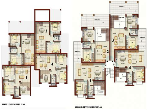 apartment duplex house plans best duplex house plans