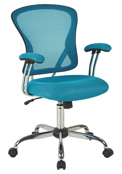 Turquoise Desk Chair by Ave Six Juliana Blue Mesh Task Chair Everything Turquoise