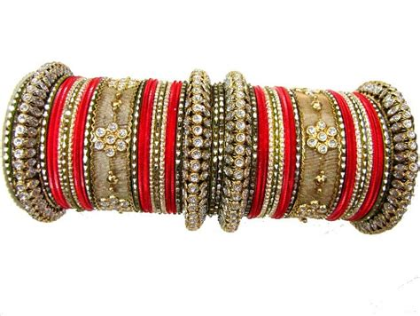 bangles and with gold set of indian traditional bangles metal